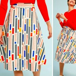 Anthropologie Hutch Multicolor Textured Skirt sz 0